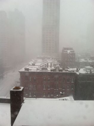 The blizzard rolls into NYC...