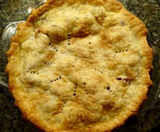Blueberry pie...