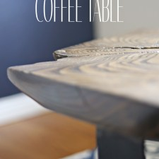 How to Make a Live Edge Coffee Table with Only a Drill
