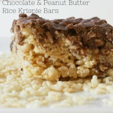 Chocolate & Peanut Butter Rice Krispie Bars
