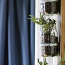Vertical Mason Jars for the Wall