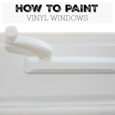 How to Paint Vinyl Windows