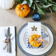 How to Set a Simple Thanksgiving Tablescape