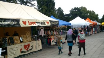 Stalls with hipster fashion.