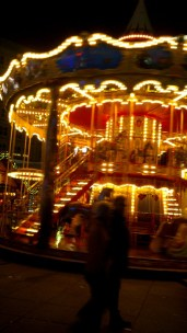 A beautiful traditional carousel.