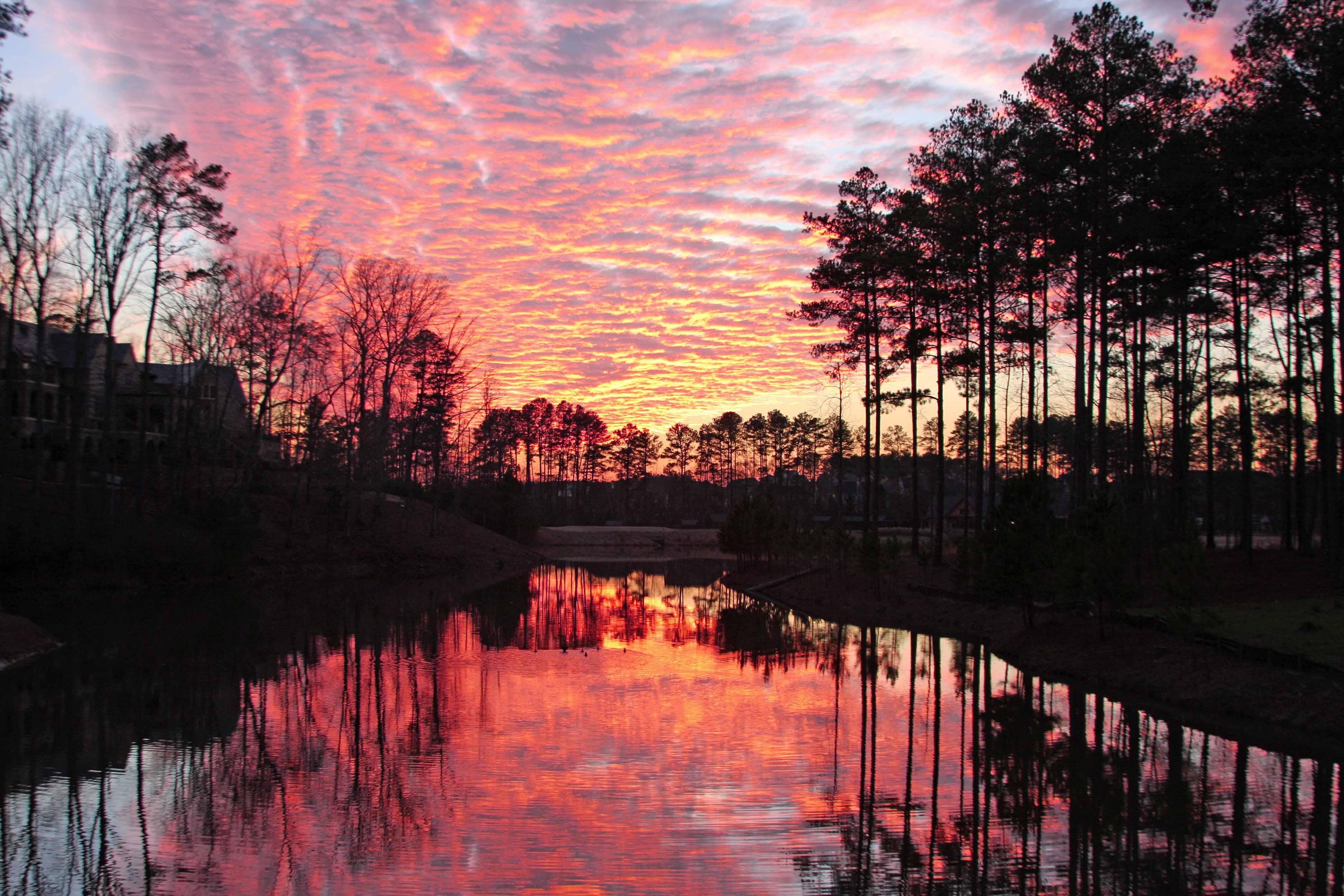 Victory Lake Sunset Reflection