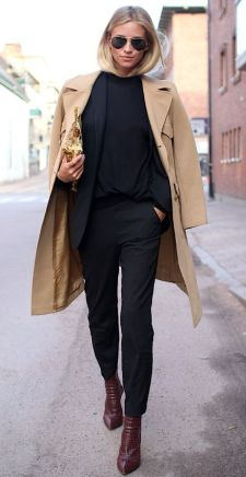 basic beige coat