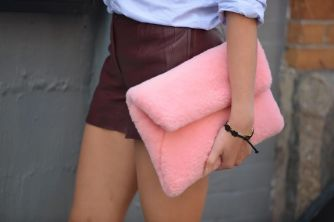 faux fur clutch 1