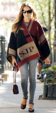 sarah jessica parker burberry cape