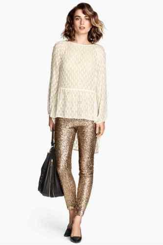 sequin pants gold