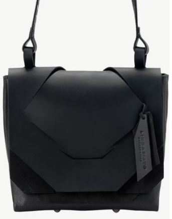 Black slashed bag