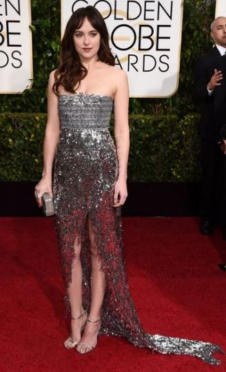 golden globes awards 2015 Dakota Johnson