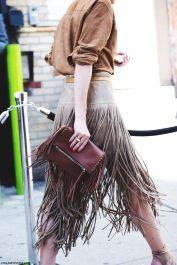 everydayfacts fringed skirt