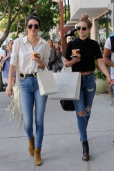 Off-Duty Model Fashion Style Inspiration Kendall Jenner and Gigi Hadid