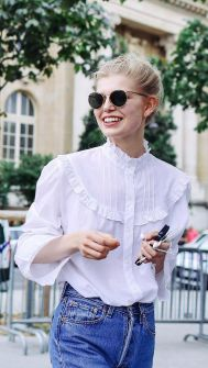 everydayfacts gothic white shirt