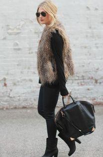 everydayfacts faux fur vest
