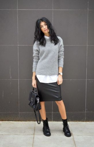 chunky sweater skirt
