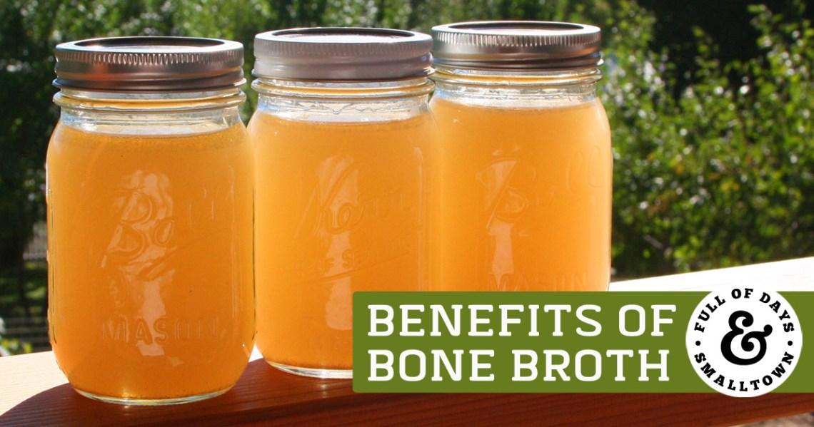 Three Jars of Bone Broth - Benefits of Bone Broth