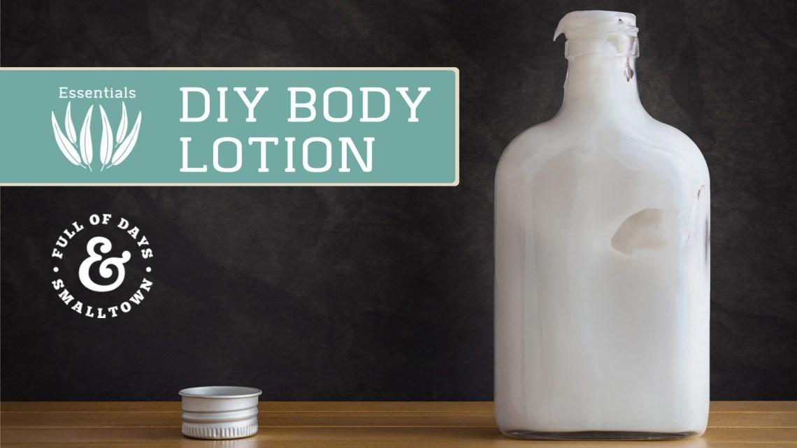 DIY Body Lotion Recipe
