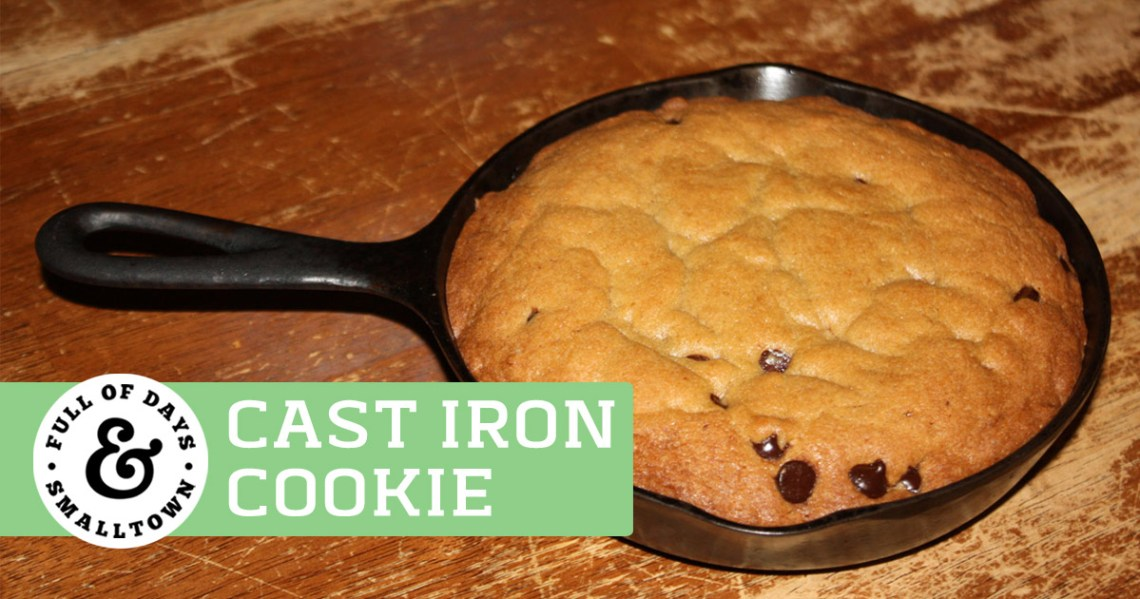 Cast Iron Chocolate Chip Cookie