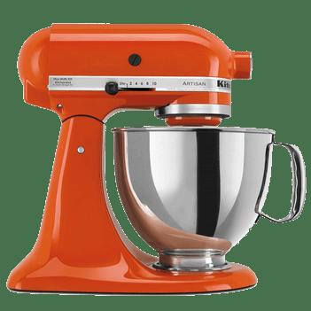 Persimmon orange kitchen aid mixer