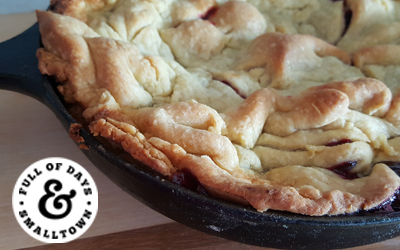 Blackberry Pie in a Cast Iron Skillet Recipe