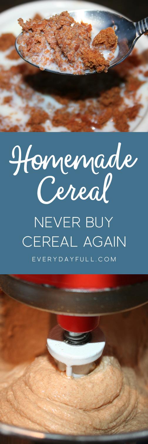 Homemade Cereal Recipe Pinterest Pin