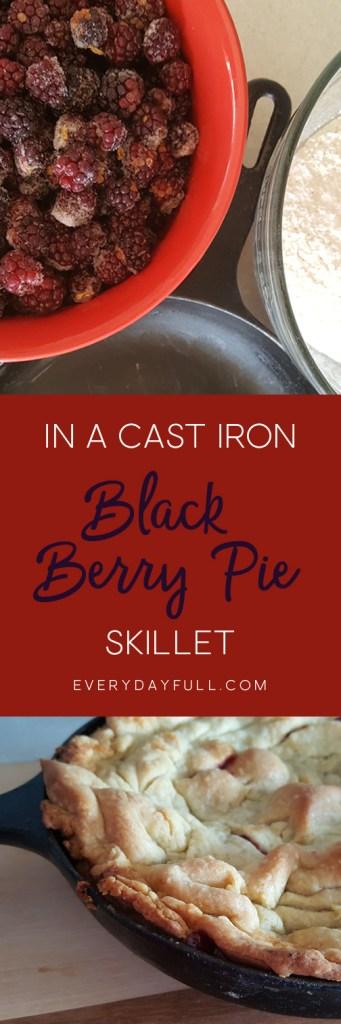 Skillet Blackberry Pie Pinterest Pin