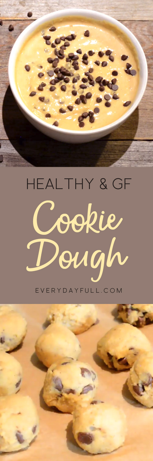 Gluten Free Healthy Cookie Dough Dip with Chocolate Chips