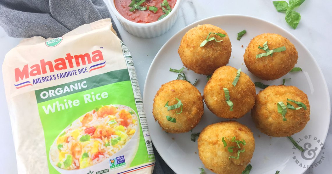Crispy Fried Arancini Rice Balls