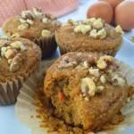Gluten Free Paleo Carrot Cake Muffins