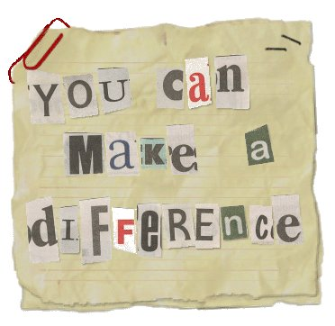You made a difference!