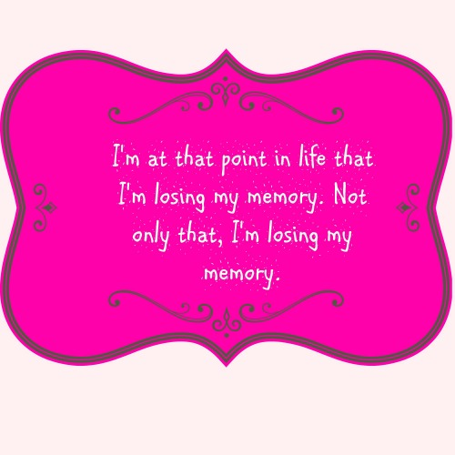 losing my memory