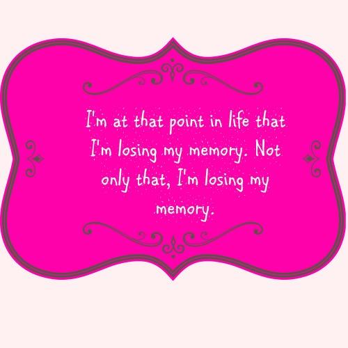 Midlife Means Losing My Memory?