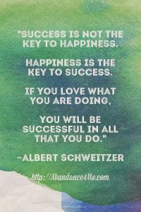 success or happiness