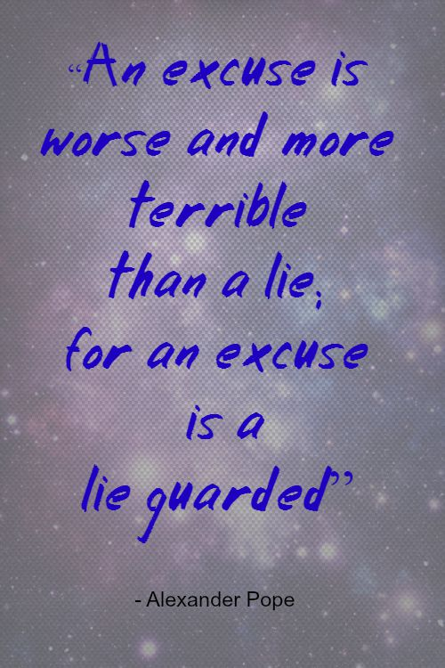 Excuses Begone #MondayMusings