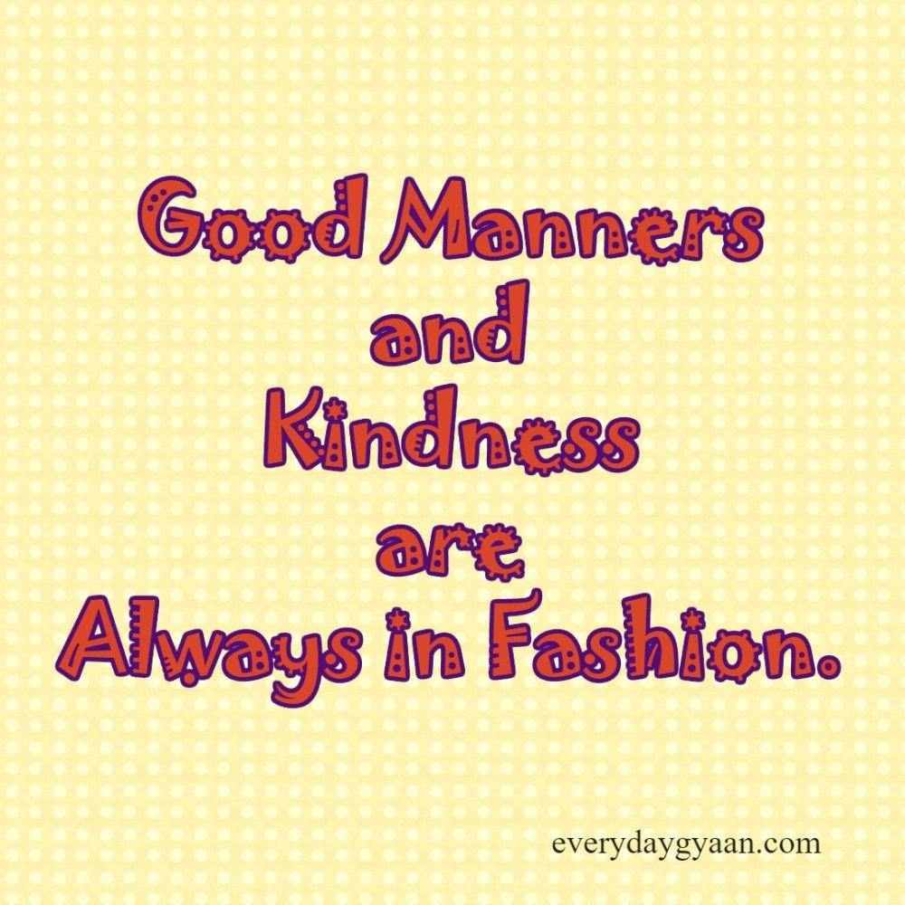 Good Manners and Kindness #MondayMusings #Pledge2BeKind