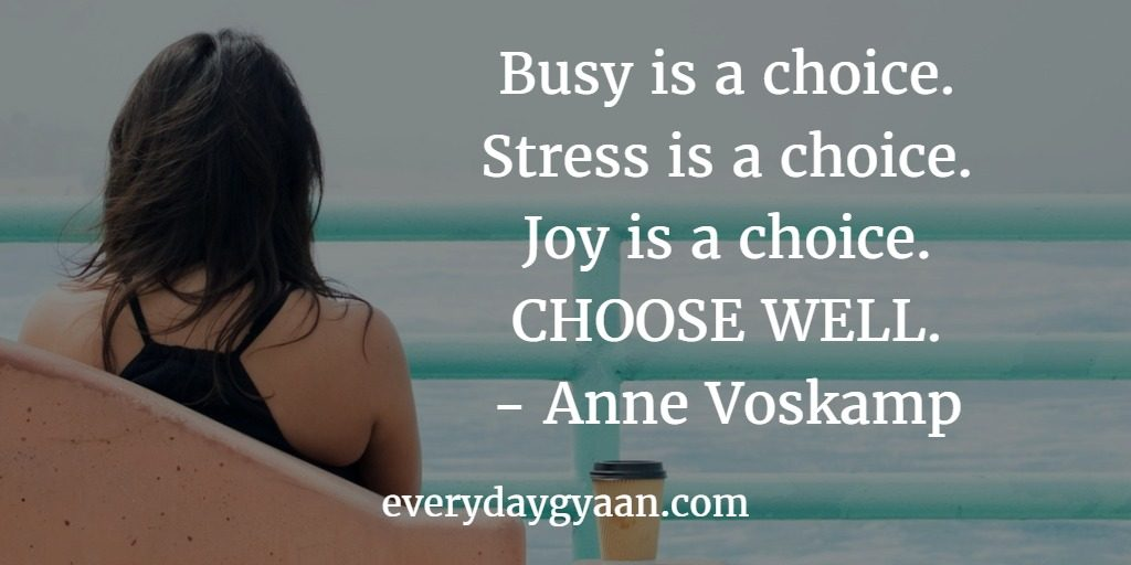 busy is a choice