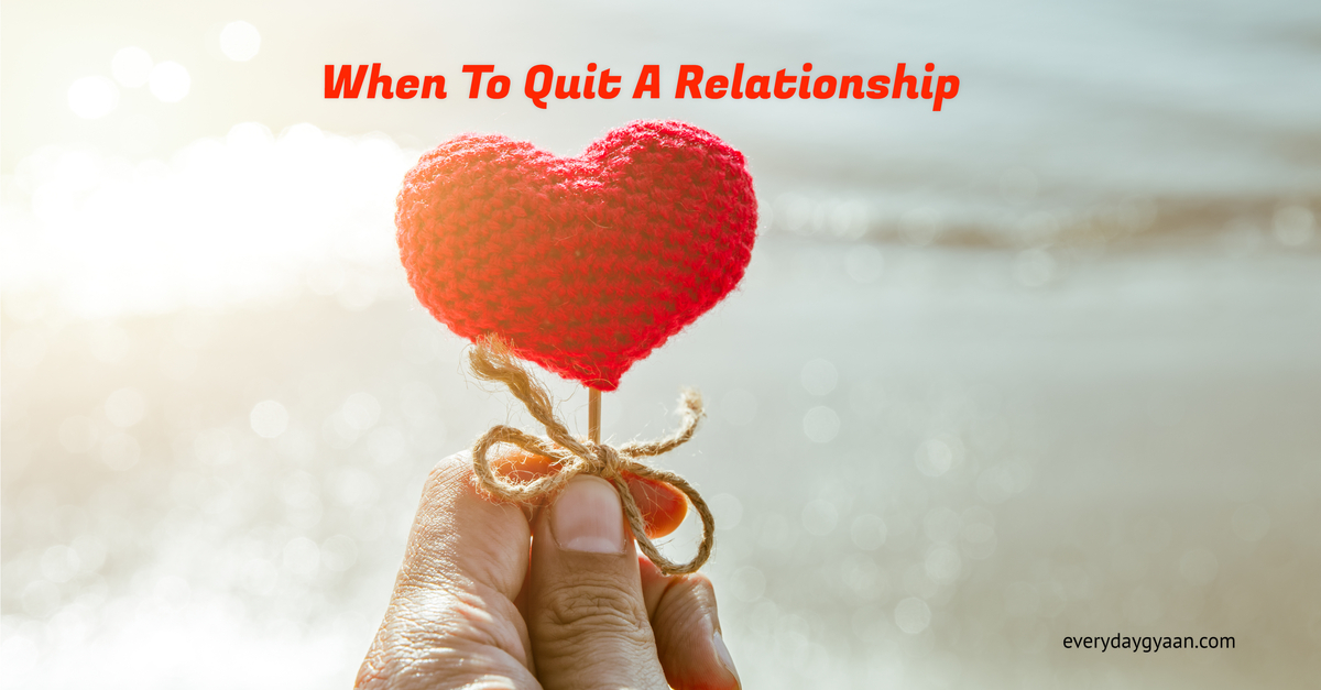 when to quit a relationship