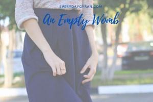 an empty womb