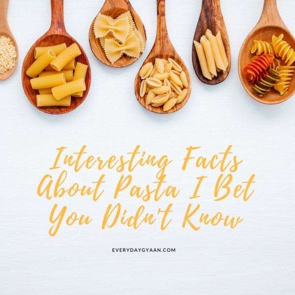 Interesting Facts About Pasta I Bet You Didn't Know