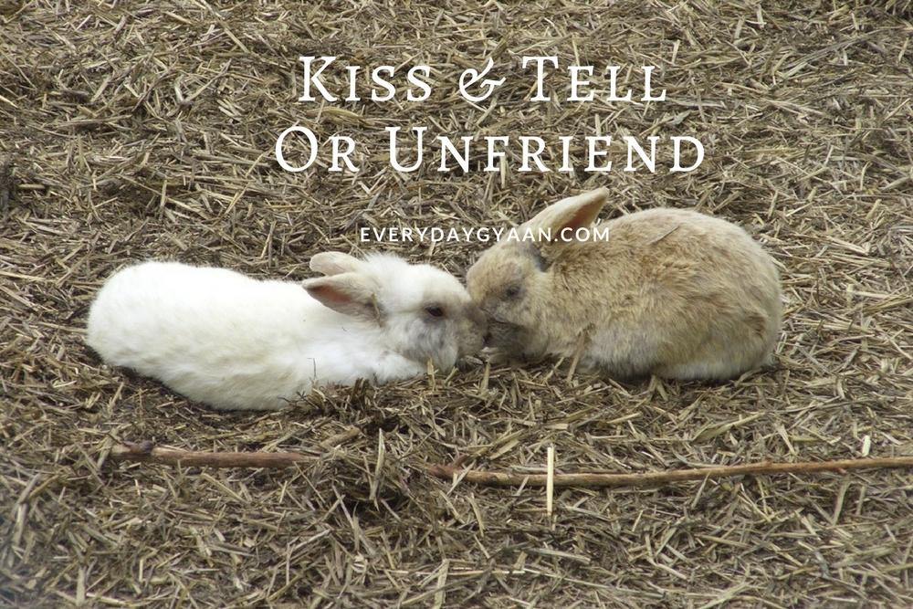 Kiss and Tell? #FridayReflections