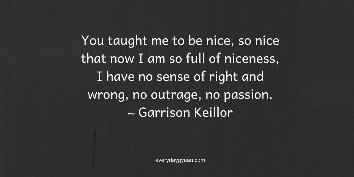 Being Too Nice is Not Nice