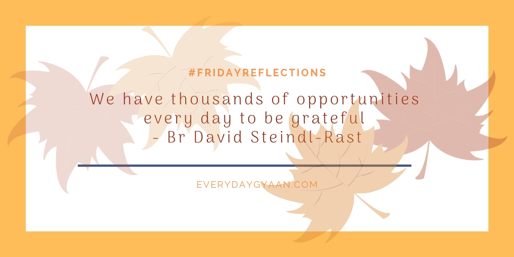 opportunities to be grateful