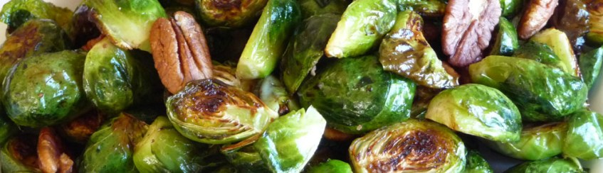 Roasted Brussels Sprouts w Toasted Pecans & Balsamic Vinegar (c) jfhaugen