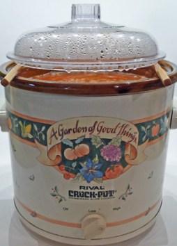 Lid Arrangement while Cooking the Rhubarb Apple Butter (c) jfhaugen