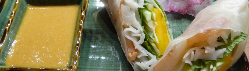 Vietnamese Salad Rolls w/ Spicy Peanut Sauce