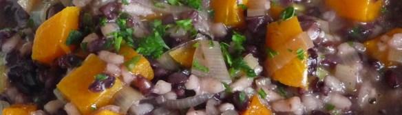 Black Rice Risotto w/ Arborio, Leeks & Roasted Butternut Squash