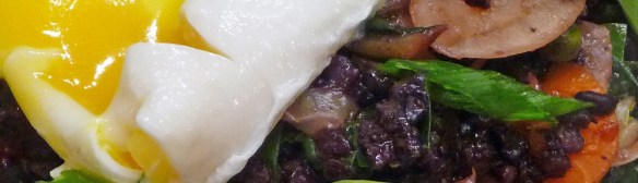 Kimchi Fried Rice with Greens & Poached Eggs – Vegetarian Meal-in-a-Bowl