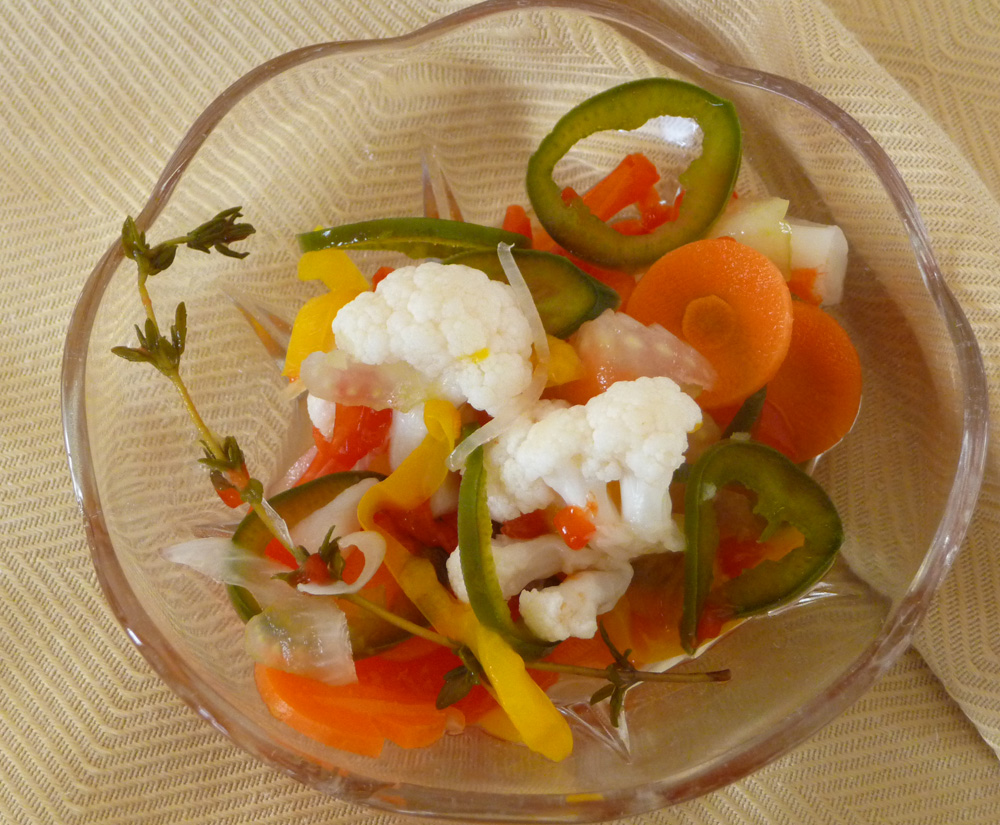 Giardiniera – Italian Pickled Vegetables - Healthy, Vegan